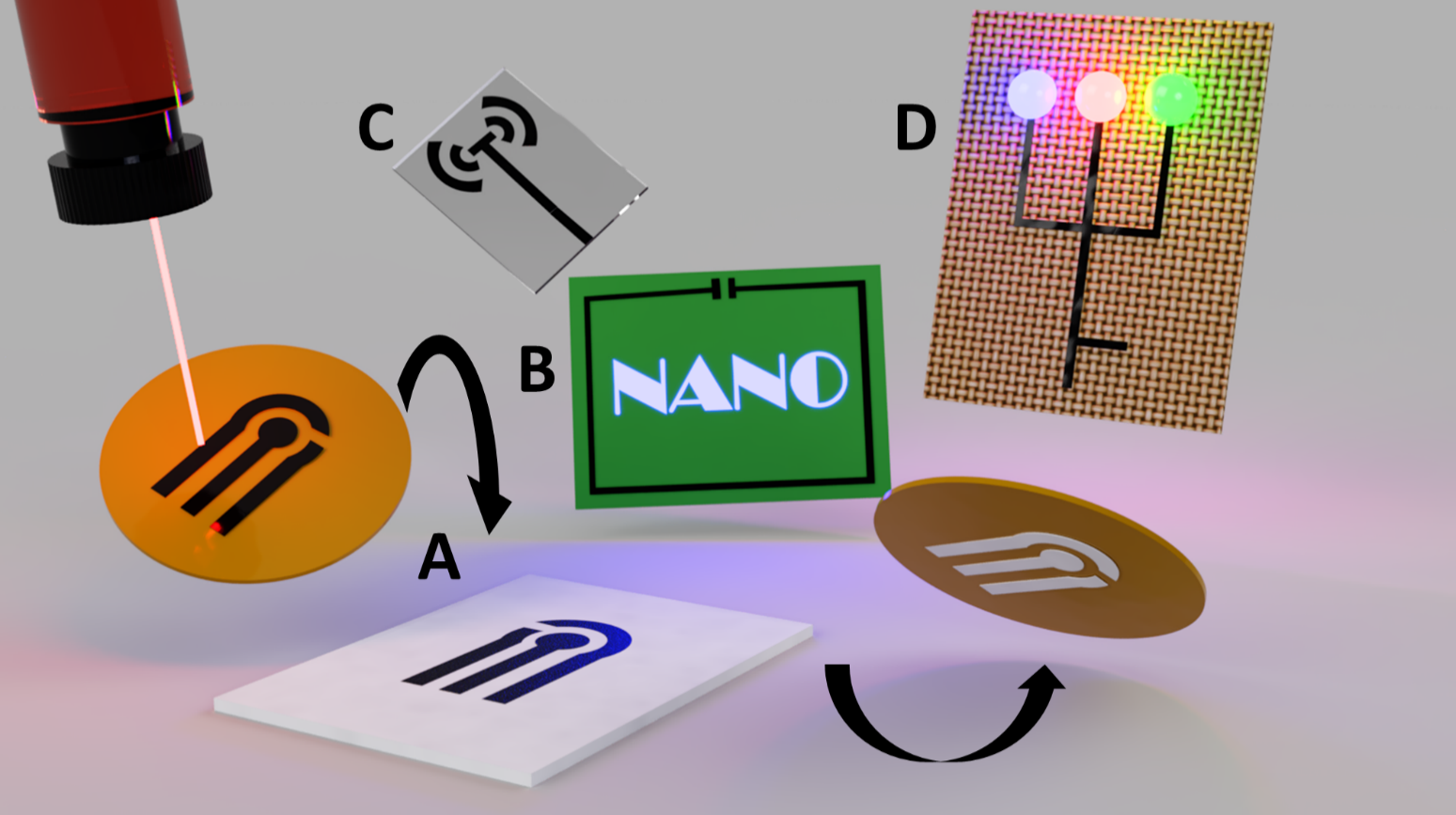 Multipurpose stamped conductive graphene nano films
