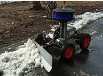 AI based autonomous mobile robotic platform for scavenge dirt and refuse from the streets and lawns and shoveling snow away