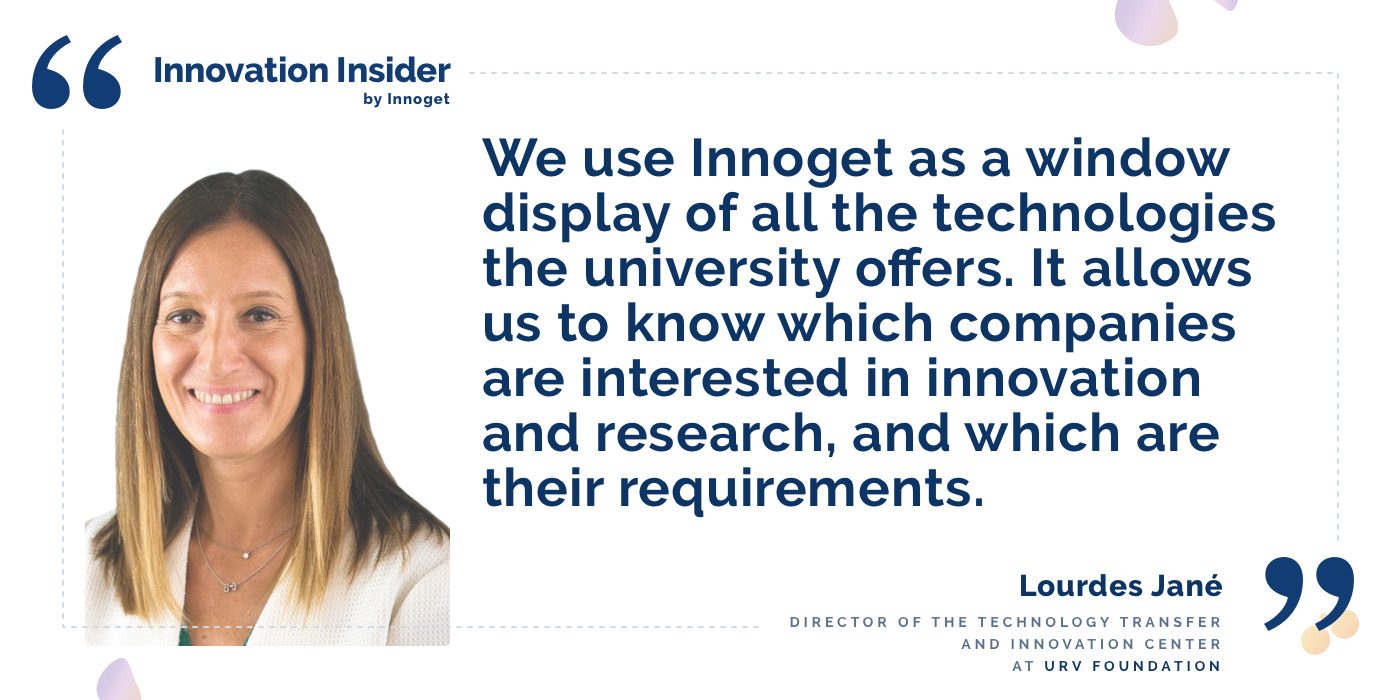 Innovation Insider: An interview with Lourdes Jané, Director of the Technology Transfer and Innovation Center at URV Foundation