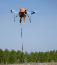 Breakthrough UAV-mobile system for geophysical research of solid mineral deposits